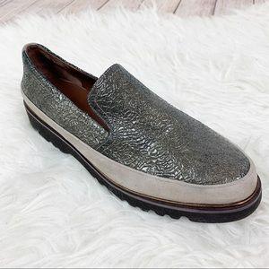 DONALD J PLINER Slip On Metallic Sneaker Cool 7.5